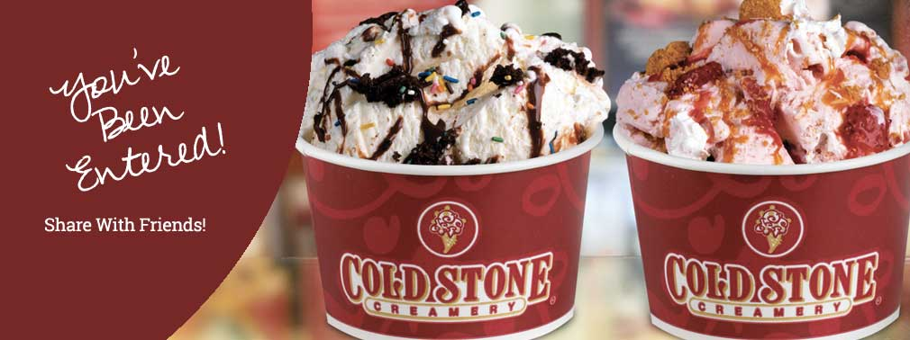 Win a Summer's worth of ice cream at Cold Stone Creamery!