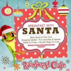Cape May County, NJ Events: Breakfast with Santa at the Rainforest Cafe