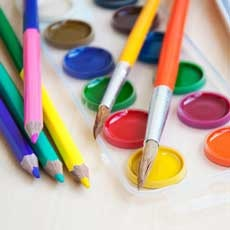 Things to do in Main Line, Pa for Kids: Family Canvas Painting Workshop, Busy Bees Pottery & Arts Studio - Frazer, PA