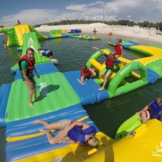 Open Beach Swim & Inflatable Aqua Park