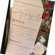 Keep an Old-School Fridge Family Calendar!