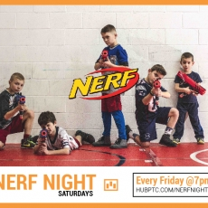 Things to do in Mansfield-Attleboro, MA: Nerf Night at Hub Parkour!  Ages 8-14