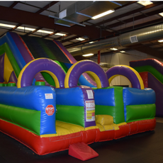Bounce Mania Inflatables at Pogo on Fridays!