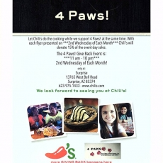 Dining to Donate- 4 paws