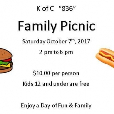 Ocean County North, NJ Events for Kids: K of C 836 Family Picnic