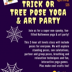 Bee You Yoga Trick or Tree Pose Halloween Yoga & Art Party