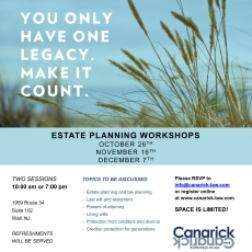 Estate Planning Workshops!