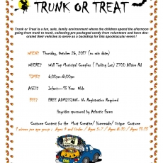 Southern Monmouth, NJ Events for Kids: Halloween Trunk or Treat