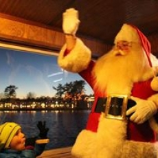 Things to do in Plymouth-Middleborough, MA:  Edaville Express: Where's Santa Train Ride