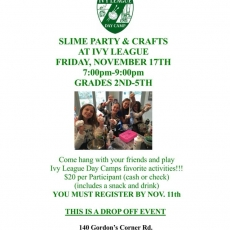 Slime Party & Craffts