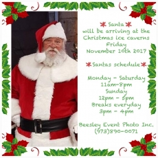 Bergen County South, NJ Events for Kids: Christmas Ice Caverns / Santa Pics