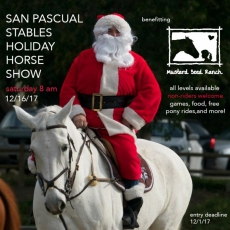 San Pascual Stables  Holiday Horse Show