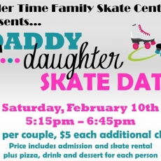 Things to do in Greenville, SC: Daddy Daughter Skate Date
