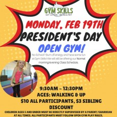 President's Day Open Gym