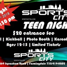 Things to do in Southern Monmouth, NJ: TEEN NIGHT @ Sports City