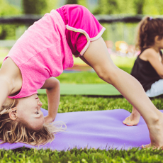 Things to do in Pasadena, CA for Kids: Kids Yoga on the Green, The Americana at Brand