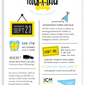 SCCM's 5th Annual Touch-a-Truck