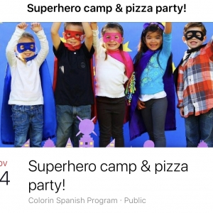 Superhero Camp and Pizza Party