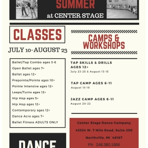 Canton-Plymouth, MI Events: Summer at Center Stage Dance Company