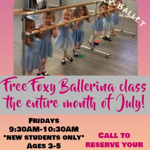 Southern Monmouth, NJ Events: Free Month-Foxy Ballet/Tap/Acro in July!