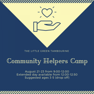 West Hartford-Farmington Valley, CT Events: Community Helpers Camp Ages 3-5