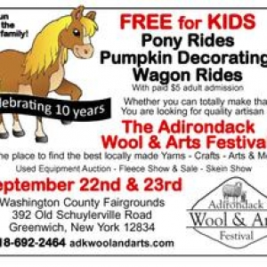 Lake George-Saratoga Springs, NY Events for Kids: Adirondack Wool and Arts Festival