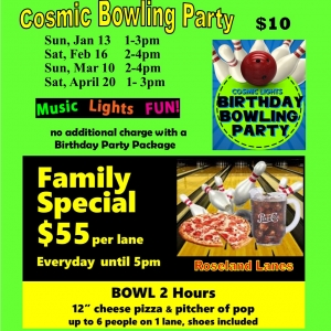 Cleveland Southeast, OH Events for Kids: Afternoon Cosmic Bowling Party