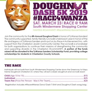 Things to do in Charleston, SC for Kids: Doughnut Dash 5k 2019 #Race4Wanza, Race 4 Achievement
