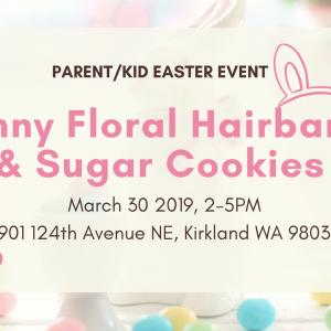 Things to do in Bothell-Redmond, WA for Kids: Easter Bunny Hairband & Sugar Cookie, Urban Table Culinary Arts