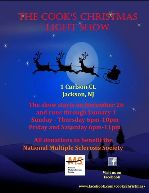 the cooks christmas light show - Christmas Light Show Nj