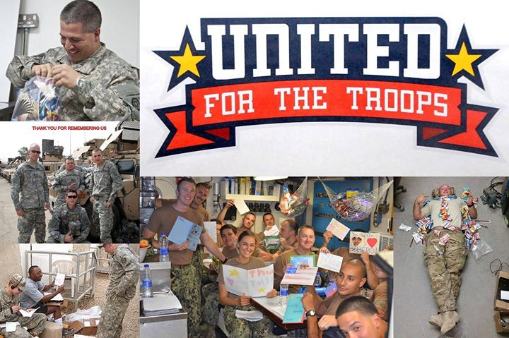 United For The Troops: Collect Items for Care Packages Delivered to Our Troops Overseas