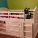 girls twin mid loft bed