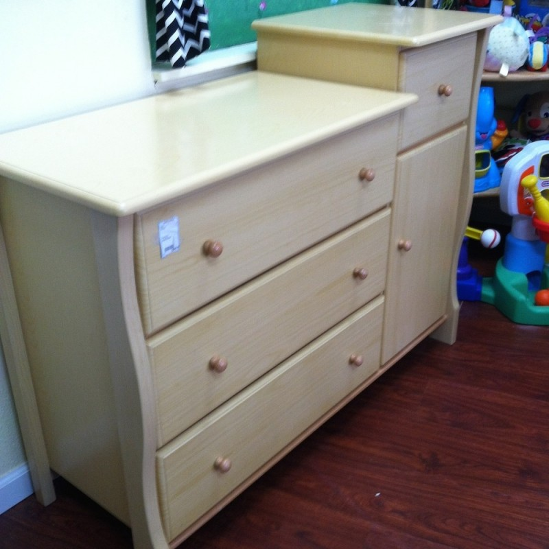 Natural Wood Dresser U0026 Changing Table1 ...